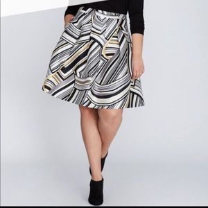 Lane Bryant Print Circle Skirt Size 14 NWT